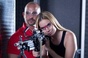 Girl machine gun